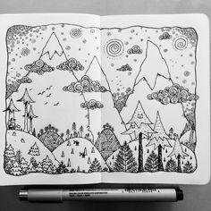 "125 Likes, 2 Comments - @davegarbot on Instagram: ""Dreaming of Spring #illustration #drawing #penandink #micron #mymoleskine #moleskineart…"""