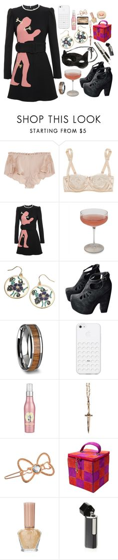 """""""Can You Do That Again?"""" by brahski ❤ liked on Polyvore featuring Carine Gilson, Dolce&Gabbana, Carven, Schott Zwiesel, Accessorize, Jeffrey Campbell, Soap & Glory, Pamela Love, Paul & Joe and Karl Lagerfeld"""