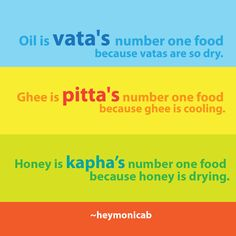 Number one foods for the doshas!