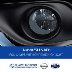 #Nissan #SUNNY come's with #Chrome #Highlight #Fog #Lamps Shakti Nissan: https://goo.gl/zazXU9 #SunnyCars #BookMyCar #MyCar #Datsun #DatsunCar #FirstCar #Drive #Road