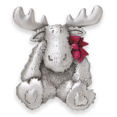 Pewter Christmas Moose Pin - Best Selling Gifts, Clothing, Accessories, Jewelry and Home Décor