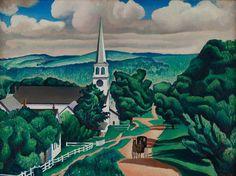 Charles Sheeler, Vermont Landscape, 1924