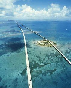 Highway through Florida keys