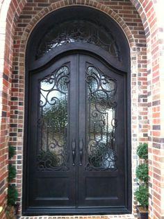Grand luxurious double door with full radius arch