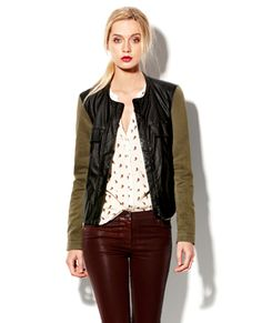 Faux Leather Cross Dye Jacket Vince Camuto