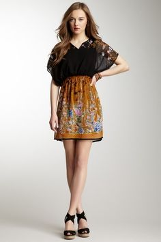 Floral Printed 2Fer Dress