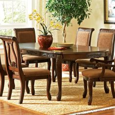 Buy Steve Silver Harmony Traditional Oval Dining Table in Brown on sale online Side Chairs, Dining Chairs, Dining Table, Georgian Homes, Brown Furniture, Home Furnishings, Armchair, Table Settings, New Homes