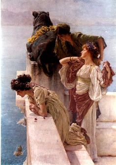 A Coign of Vantage, Laurence Alma Tadema (1895)