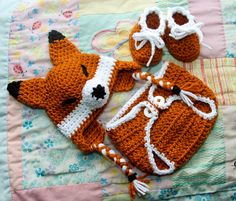 Fox Earflap Hat Gift & Photography Prop Set - Made to Order. $45.00, via Etsy.  Fox & the hound birthday