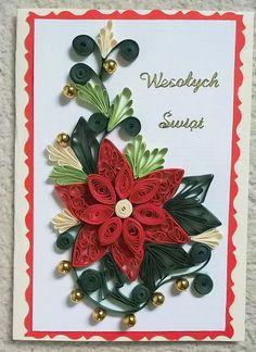Moja pasja: Kartki na Boże Narodzenie - quilling