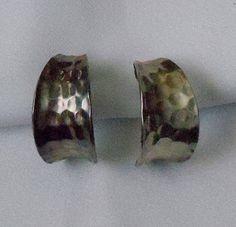 Vintage+Taxco+Silver+HandHammered+Earrings+by+PlumsMom+on+Etsy