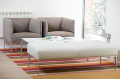 The chair and sofa range Asienta from Wilkhan blends a prestigious appeal with exceptional design and comfort that's second to none. Table Seating, Upholstered Furniture, Mattress, Upholstery, Furniture Design, Commercial, Sofa, Chair, Bed
