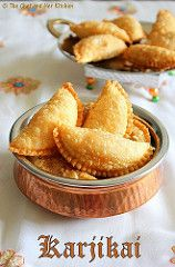 As a kid I never used to like sweets and savories always used to win over sweets for me.There were still very few sweets like Karjikai,. Indian Dessert Recipes, Indian Sweets, Indian Snacks, Sweets Recipes, Gourmet Recipes, Snack Recipes, Cooking Recipes, Indian Recipes, Appetiser Recipes