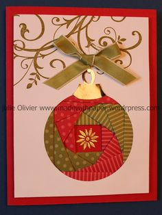 Iris Folding: Christmas Ornament | Made with paper