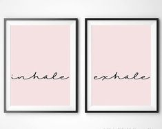 Inhale Exhale Yoga Graphic Print