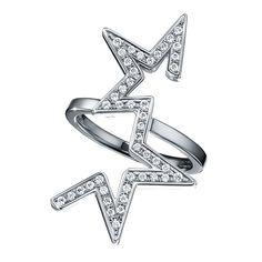 abstract star Ring