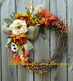 Check out this item in my Etsy shop https://www.etsy.com/listing/476174959/fall-is-in-the-air-wreath