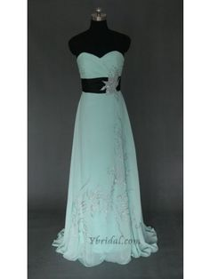 A-Line Sweetheart Floor-Length Chiffon Prom Dress SAL0450