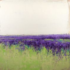 ARTFINDER: Lavender Field by Don Bishop - 30x30 inches READY TO HANG  Lavender Field is a landscape based abstract painting created with palette knives and non traditional tools. These modern orig...
