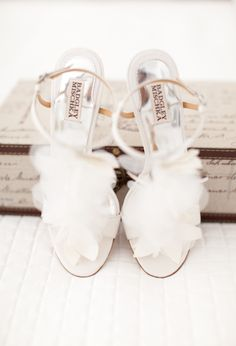 petaled Bridal shoes by Badgley Mischka Photography by marinkristine.com