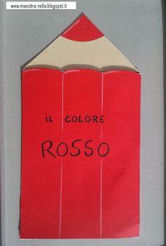 maestra Nella: il colore ROSSO Montessori, Blue Books, School Colors, Book Crafts, Color Themes, Holidays And Events, Paper Shopping Bag, Childrens Books, Paper Art