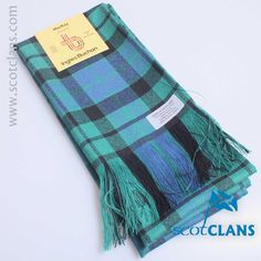 Pure wool sash in MacKay Ancient tartan - available from ScotClans