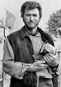 """Clint Eastwood, with armadillo  (admittedly not my idea of """"Hot"""", but everything else fit the board)"""