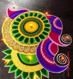 50 New Rangoli Designs (Rangoli Ideas) - October 2019 Easy Rangoli Designs Diwali, Rangoli Simple, Indian Rangoli Designs, Rangoli Designs Latest, Latest Rangoli, Simple Rangoli Designs Images, Rangoli Designs Flower, Rangoli Patterns, Free Hand Rangoli Design