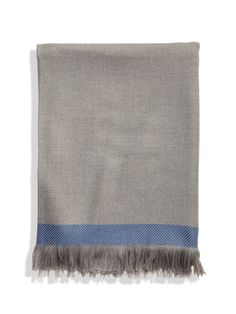 Twill with Tipped End Throw - Gilt Home