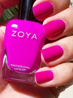 "Zoya Nail Lacquer in ""Charisma"" Love Nails, How To Do Nails, Fun Nails, Pretty Nails, Zoya Nail Polish, Nail Polish Colors, Pointed Nails, Perfect Nails, Natural Nails"