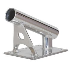 "Lee's MX Pro Series Fixed Angle Center Rigger Holder - 22 Degree - 1.5"" ID - Bright Silver [MX7001CR]"