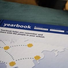 Yearbook designed as Facebook! Awesome!!