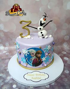 Frozen Cake by Dream Cakes Chicago Frozen Themed Birthday Cake, Second Birthday Cakes, Pig Birthday Cakes, Frozen Themed Birthday Party, Birthday Cake Girls, Themed Cakes, Minecraft Birthday Cake, Frozen Party Decorations, Disney Frozen Cake