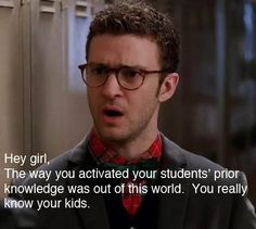 Justin Timberlake in geeky glasses in Bad Teacher. Bad Teacher, Teacher Memes, Teacher Stuff, Teacher Humour, Teacher Treats, Teacher Tips, Teaching Humor, Teaching Quotes, Teaching Reading