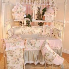 Brandee Danielle Flower Medley 4 Piece Crib Bedding Set