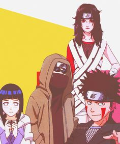 Hinata, Shino, Kiba and Kurenai - Team 8 Boruto, Naruto Uzumaki, Sasuke, Hinata Hyuga, Naruto Art, Anime Naruto, Naruhina, Team 8 Naruto, Best Anime Shows