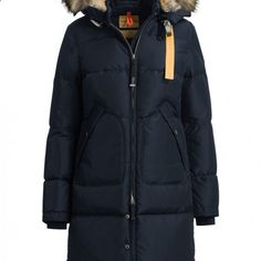 62edf323f72 Parajumpers Women s Long Bear Coat in Marine