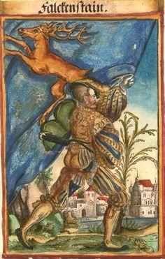 """[Falckenstain] (f°139) -- Koebel, Jacob, """"Wapen des heyligen römischen Reichs teutscher Nation"""", Franckfurth am Main, 1545 [BSB Ms. Rar. 2155]"""
