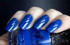 37 Best Nails Manicure Ideas Ever. Luscious Royal Blue Nails. via Fashion Diva Designs.