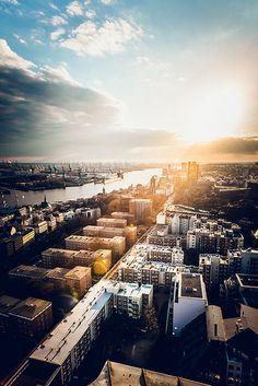 Sunset in #Hamburg #EuropaPassage #EuropaPassageHamburg