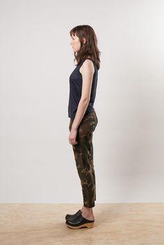 Ellis Camouflage Linen Pants