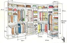 ideas master closet layout walk in house plans for 2019 Master Bedroom Closet, Bedroom Wardrobe, Wardrobe Closet, Closet Space, Walk In Closet, Home Bedroom, Corner Closet, Ikea Bedroom, Master Bedrooms