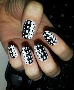 Inspired by Nails art for beginners of @MissJenFABULOUS