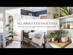 All About Cottage Style, Michigan English Cottage Home Tour - YouTube French Country Cottage, White Cottage, Cottage Style, Slow Living, Cottage Homes, Repurposed Furniture, House Tours, Home Goods, Sweet Home