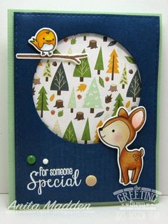 The Greeting Farm WOOD FRIENDS Clear Stamps TGF188 zoom image