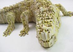 New Pixelated Animals by Shawn Smith using balsa and bass wood