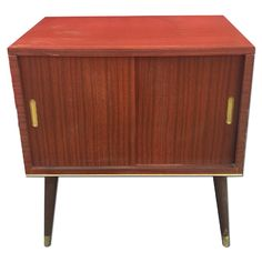 1950's/60's Retro Vintage Record Cabinet on Dansette Legs | eBay ...