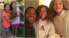 Michael Strahan's kids - twin daughters Isabella and Sophia Strahan