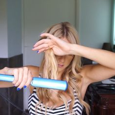 Quick #howto #hairtutorial of #kindacurl ✔️Wrap hair around 1 inch @chihaircare curling iron + leave about 1 to 2 inches of hair out. ✔️Finish entire head and then flat iron the bottom of the untouched strands I used #babylis flat iron.  My extensions are @hotheadshairextensions  Hairspray @kenraprofessional