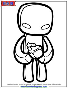 enderman coloring page coloring pagesminecraftcolouring